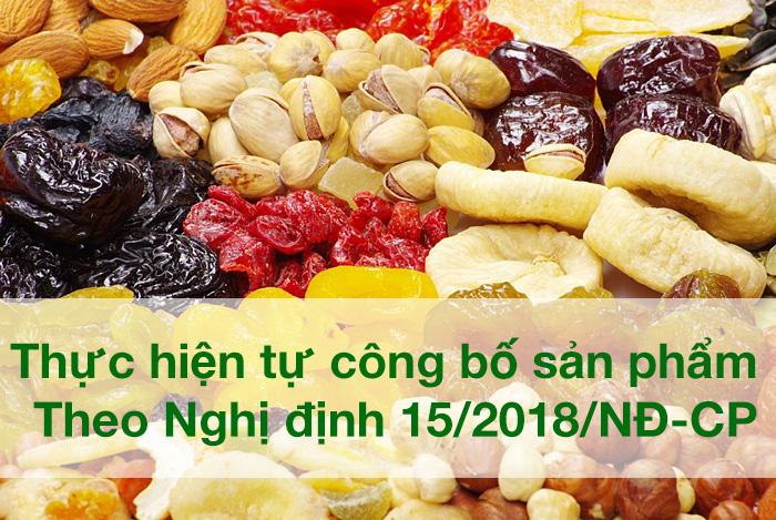 Thực hiện tự công bố sản phẩm theo Nghị định 15/2018/NĐ-CP