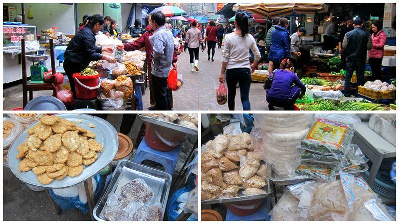 Tình hình trong chợ thực phẩm